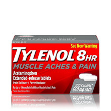 Tylenol 8 HR 650 mg Muscle Aches & Pain Reliever, Fever Reducer 100 Caplets