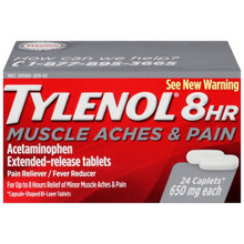 Tylenol 8 HR 650 mg Muscle Aches & Pains, Fever Reducer 24 Caplets