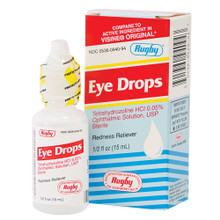Rugby Eye Drops Tetrahydrozyline 0.05% Redness Reliever Sterile 15ml