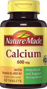 Nature Made Calcium with Vitamin D 600mg Bone-strengthening Tablets 60 Counts