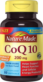 Nature Made Coq10 200 Mg Naturally Orange,Value Size 80 Counts