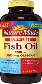 Nature Made Fish Oil Burp-less 1200 Mg Value Size 200 Counts