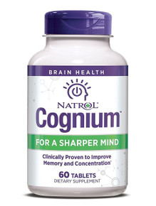 Natrol Cognium 60 Tablets, Clinically Proven to Improve Memory & Concentration