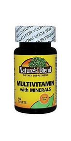 Nature's Blend Multivitamin with Minerals 100 Tablets