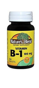 Nature's Blend Vitamin B-1 100 mg 100 Tablets