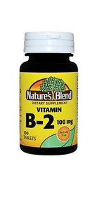 Nature's Blend Vitamin B-2 100 mg 100 Tablets