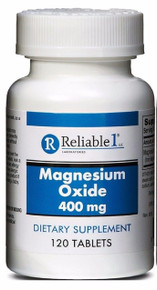 Reliable-1 Magnesium Oxide 400 mg Dietary Supplement, 120 Tablets
