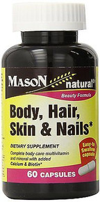 Mason Vitamins Body Hair Skin & Nails Beauty Formula 60 Capsule