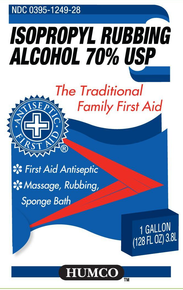 HUMCO Isopropyl Rubbing Alcohol 70% USP 16 Fl Oz, First Aid Antiseptic