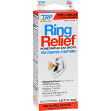 TRF Ring Relief Homeopathic Ear Drops 0.33 Fl Oz. For Tinnitus Symptoms
