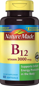 Nature Made Vitamin B-12 Softgels 3000 Mcg 60 Count Supports Cellular Energy