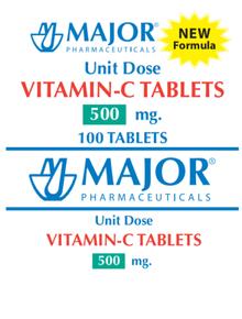 Major Vitamin C 500 mg Unit Dose 100 Tablets