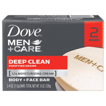 Dove Men+Care Body and Face Bar Deep Clean 4 oz X 2 Bar