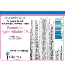 Pramoxine Hydrochloride 1% Foam 15 G (0.50 OZ) Relief of Pain from Hemorrhoids