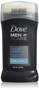 Dove Men+Care Clean Comfort 48 Hour Odor Protection Deodorant Stick 3 Oz