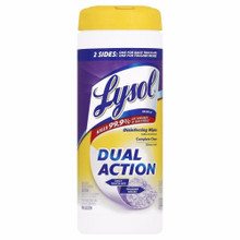 Lysol Dual Action Disinfecting Wipes Citrus 2 Sides Wipes 35 Count