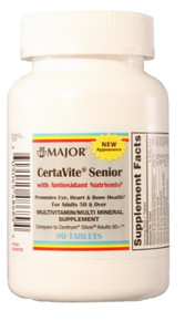 Major CetraVite Senior with Antioxidant Nutrients for Age 50 + Adults, 90 Tablet