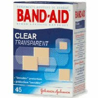 Band-Aid Clear Adhesive Bandages, Clear Comfort Flex Assorted Bandages, 45 each