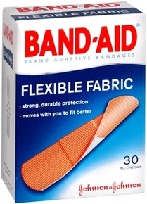 Band-Aid Flexible Fabric Adhesive Bandages, 3/4 Inches in Wide 30 each
