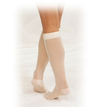 TRUFORM 1773: Beige 15-20 LITES Knee High Stockings 2X-3X
