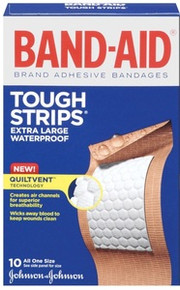 Band-Aid Adhesive Bandages, Extra Large Tough-Strips Waterproof