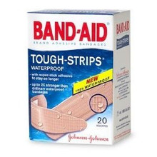 Band-Aid Tough-Strips Waterproof Adhesive Bandages 20 Count