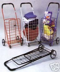 Folding Shopping Cart for carrying  laundry or grocery