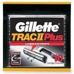 Gillette Trac II Plus Shaving Cartridges 10 Cartridges