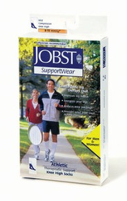 Jobst Athletic 8-15 mmHg Closed Toe Knee high socks in white