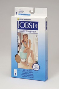 "Jobst UltraSheer PETITE (For Calf length 15"" or less) Knee Highs in the 15-20 mmHg moderate compression"