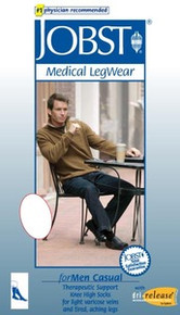 Jobst for Men Moderate 15-20 mmHg Casual Knee High