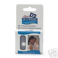 Sea-Band Wristband, reduce nausea associated with: Travel Sickness , 1-Pair
