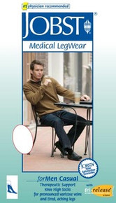 Jobst for Men firm 20-30 mmHg Casual Knee High