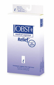 Jobst Relief 30-40 mmHg Open Toe Thigh highs with Silicone Top Band