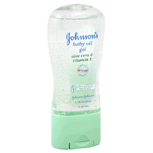 Johnson's Baby Oil, Gel with Aloe Vera & Vitamin E, 6.5-Ounce Bottles