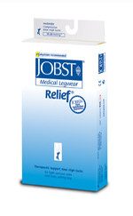 Jobst Relief Moderate 15-20 mmHg Closed Toe Thigh Highs with Silicone Top Band