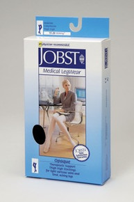 Jobst Opaque OPEN TOE Thigh Highs Petite 15-20 mmHg