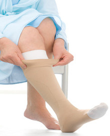Jobst UlcerCare Stocking and Liners OPEN TOE - 40mmHg