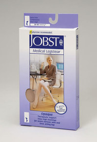 Jobst Opaque Open Toe Thigh Highs PETITE 30-40 mmHg