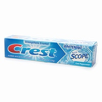Crest Whitening Plus Scope Fluoride Anticavity Toothpaste Cool Peppermint