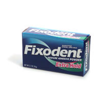 Fixodent Extra Hold Denture Adhesive Powder  2.7 oz