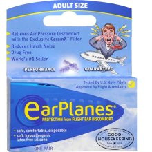 Ear Planes Flight Air Protection for Air Pressure 1 Pr