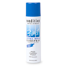 Condition 3-in-1 Extra Hold Hair Spray, Unscented, Aerosol  7 oz