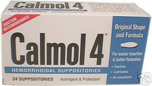 Calmol 4 Hemorrhoidal Suppositories - 24 each, 1 Pack