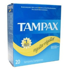 TAMPAX FLUSHABLE ORIGINAL  REGULAR TAMPONS 20 CT