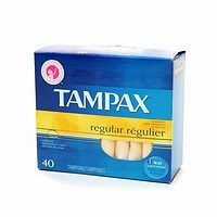Tampax Tampons with Biodegradable Applicator Regular Absorbency 40 ct