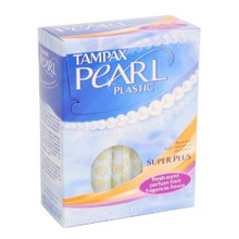 Tampax Pearl Tampons with Plastic Applicator Super Plus Absorbency Fresh Scent 18ct