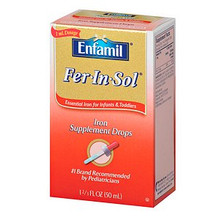 Enfamil Fer-In-Sol Supplement Drops Iron for Infants and Toddlers 1.66 fl oz
