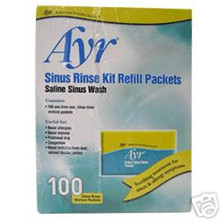 Ayr Sinus Rinse Kit Refill Packets 100 Mixture Packets