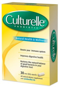 Culturelle Probiotic All Natural Dairy & Gluten Free Vegetable Capsules Lactobacillus GG  30 ea